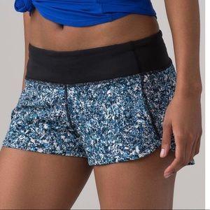 Lululemon SeaWheeze *SE Speed Shorts Tofino Shells